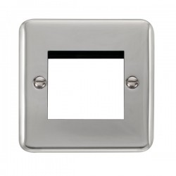Click Deco Plus Polished Chrome 1 Gang Twin Aperture Plate