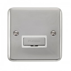 Click Deco Plus Polished Chrome 13A Fused Ingot Connection Unit with White Insert