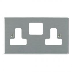Hamilton Hartland Grid Satin Steel SS2 Grid Fix Aperture Plate