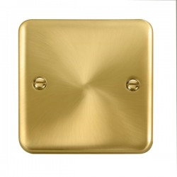 Click Deco Plus Satin Brass 1 Gang Blank Plate
