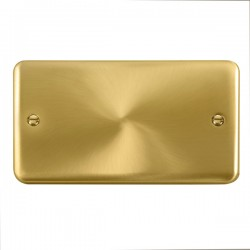 Click Deco Plus Satin Brass 2 Gang Blank Plate