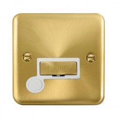 Click Deco Plus Satin Brass 13A Fused Ingot Connection Unit with Flex Outlet and White Insert