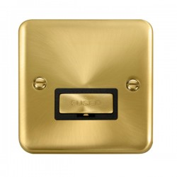 Click Deco Plus Satin Brass 13A Fused Ingot Connection Unit with Black Insert