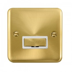Click Deco Plus Satin Brass 13A Fused Ingot Connection Unit with White Insert