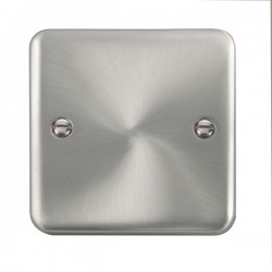 Click Deco Plus Satin Chrome 1 Gang Blank Plate