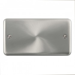 Click Deco Plus Satin Chrome 2 Gang Blank Plate
