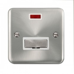 Click Deco Plus Satin Chrome 13A Fused Ingot Connection Unit with Neon and White Insert