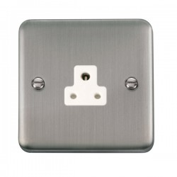 Click Deco Plus Stainless Steel 2A Round Pin Socket with White Insert