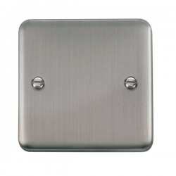 Click Deco Plus Stainless Steel 1 Gang Blank Plate