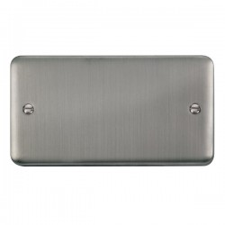 Click Deco Plus Stainless Steel 2 Gang Blank Plate