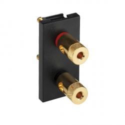 Hamilton EuroFix 50X25mm Modular Binding Post Module Plate with Black Insert