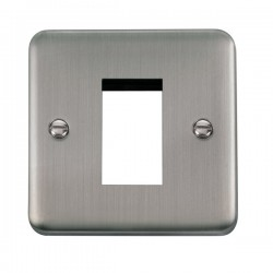 Click Deco Plus Stainless Steel 1 Gang Single Aperture Plate