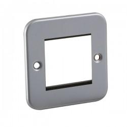 Knightsbridge Metal Clad 2 Gang Modular Plate
