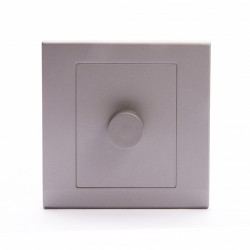 Retrotouch Simplicity Mid Grey 1 Gang 2 Way Rotary Dimmer Switch