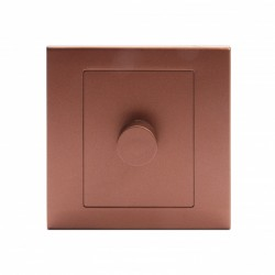 Retrotouch Simplicity Bronze 1 Gang 2 Way Rotary Dimmer Switch