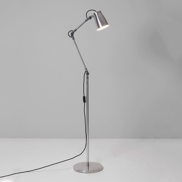 Astro atelier polished aluminium floor lamp base at uk electrical astro atelier polished aluminium floor lamp base aloadofball