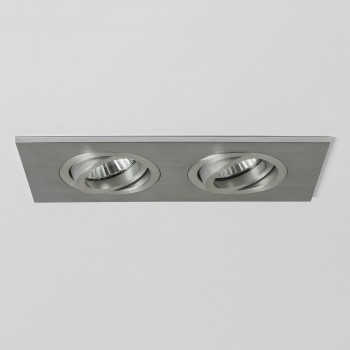 Astro Taro Twin GU10 Brushed Aluminium Fire-Rated Adjustable Downlight