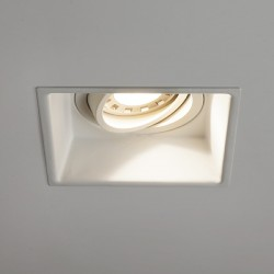 Astro Minima Square GU10 Matt White Adjustable Downlight