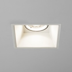 Astro Minima Square GU10 Matt White Fire-Rated Downlight