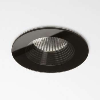 Astro Vetro Round Black Fire-Rated Bathroom LED Downlight