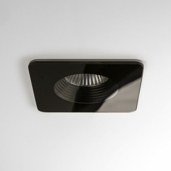 Astro Vetro Square Black Bathroom LED Downlight