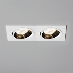 Astro Aprilia 2x6.1W Twin White Adjustable LED Downlight - 2700K