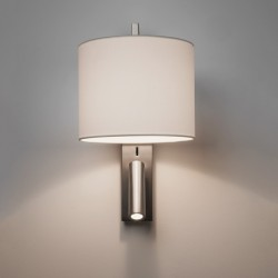 Astro Ravello Matt Nickel Wall Light with LED Reading Light