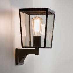 Astro Farringdon Black Outdoor Wall Light