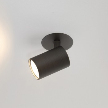 Astro Ascoli Single Recessed Bronze Spotlight