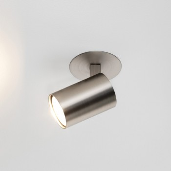 Astro Ascoli Single Recessed Matt Nickel Spotlight