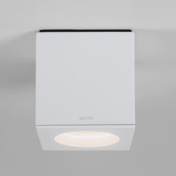 Astro Kos Square Matt White Bathroom Downlight