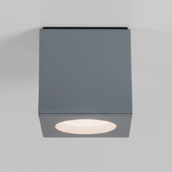 Astro Kos Square Painted Silver Bathroom Downlight
