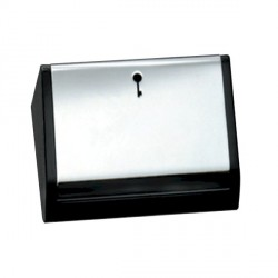 Hamilton EuroFix 50X25mm Modular Card Switched Satin Chrome/Black With Blue LED Locator with Black Insert