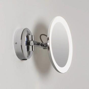 Astro Mascali Round Polished Chrome LED Bathroom Mirror Light