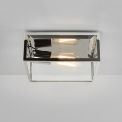 Astro Bronte Polished Nickel Outdoor Ceiling Light