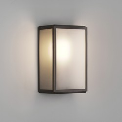 Astro Homefield Bronze Outdoor Wall Light with Frosted Glass