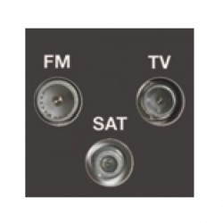 Hamilton EuroFix 50X25mm Modular TVFMSAT Screen Non Isolated (DAB Compatible) with Black Insert