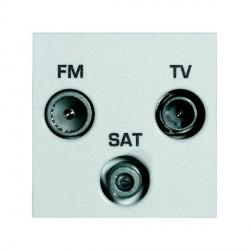 Hamilton EuroFix 50X25mm Modular TVFMSAT Screen Non Isolated (DAB Compatible) with White Insert