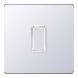 Selectric 5M-Plus Screwless Polished Chrome 1 Gang 20A DP Switch with White Insert
