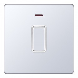 Selectric 5M-Plus Screwless Polished Chrome 1 Gang 20A DP Switch with Neon and White Insert