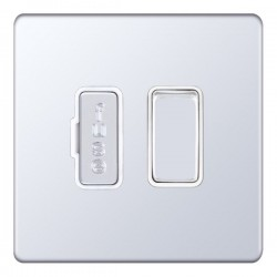 Selectric 5M-Plus Screwless Polished Chrome 13A DP Switched Fused Connection Unit with White Insert