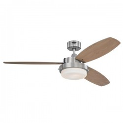 Westinghouse Alloy 52 Inch Brushed Nickel Ceiling Fan with Beech and Graphite Blades