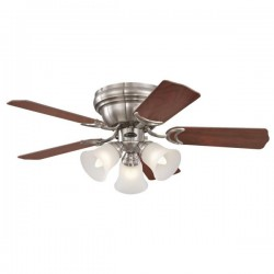 Westinghouse Contempra Trio 36 Inch Brushed Nickel Ceiling Fan with Rosewood and Beech Blades