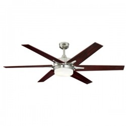 Westinghouse Cayuga 60 Inch Brushed Nickel Ceiling Fan with Rosewood and Light Maple Blades