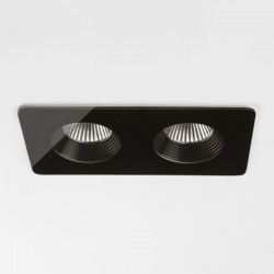 Astro Vetro Twin Black Bathroom LED Downlight