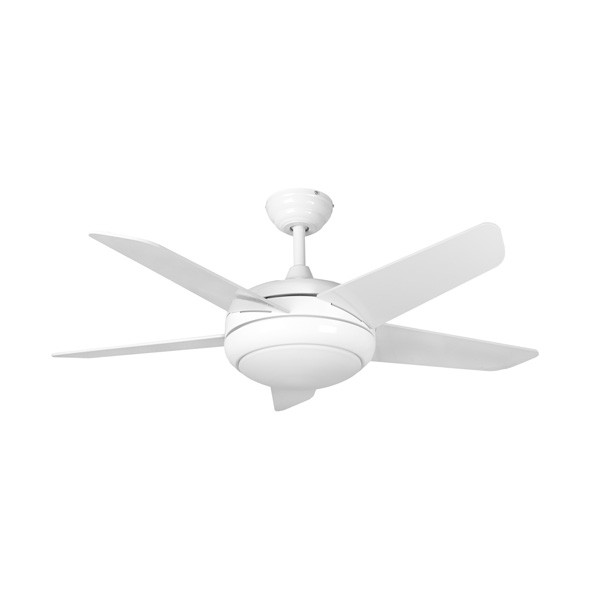 Fantasia Eurofans Neptune 44 Inch Remote Control White Ceiling Fan With Blades And Light