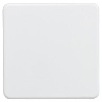 Knightsbridge Screwless Matt White 1 Gang Blank Plate