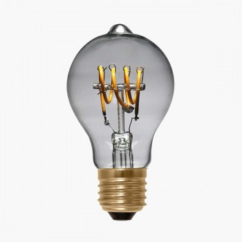 Segula Design Line 4W 2200K Dimmable E27 Clear LED Bulb with Curved Filament
