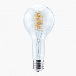 Segula Design Line 18W 2200K Dimmable E40 Clear Grand LED Bulb with Curved Spiral Filament Plus