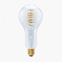 Segula Design Line 12W 2200K Dimmable E27 Clear Grand LED Bulb with Curved Spiral Filament Plus